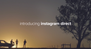 A screen capture explaining Instagram's new Direct messaging feature.