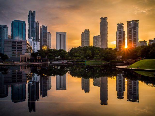 Kuala Lumpur View from Petronas Towers Garden