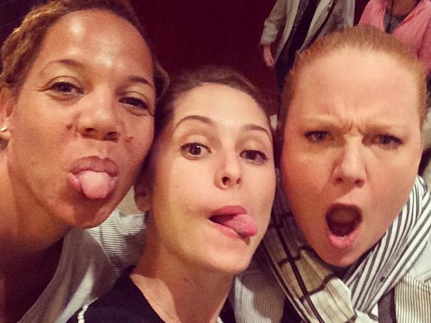 Brooke Williamson (center), flanked by Nina Compton (left) and Tiffani Faison (right). Courtesy: Brooke Williamson Instagram