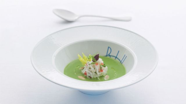 Blu Chilled Sweet Pea Soup